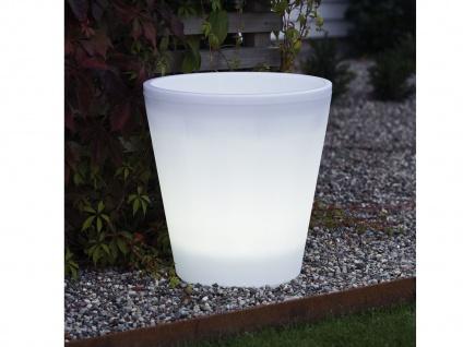 Beleuchteter Blumenkübel Outdoor LED Blumentopf Ø 37cm IP44 Terrassenbeleuchtung
