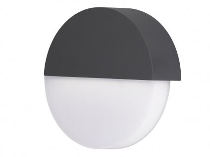 LED Außenwandleuchte Ø 18cm, Aluminium grau, Wofi-Leuchten - Vorschau 2