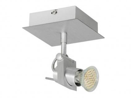Schwenkbarer LED Deckenspot 1-flammig, Aluminium gebürstet, inkl. LM