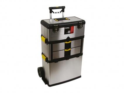 Werkzeugtrolley, Werkzeugkoffer aus rostfreiem Stahl, Velleman