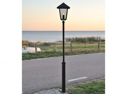 Standleuchte Wegeleuchte BENU, E27, Aluminium schwarz, Höhe 254 cm