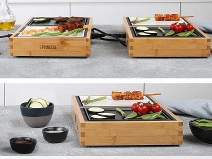 Teppanyaki Grill für 6 Personen, erweiterbar Japanischer Elektrogrill Tischgrill