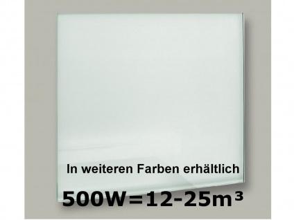 500W Infrarot-Glaspaneel weiß, 90x60cm, für Räume 12-25m³