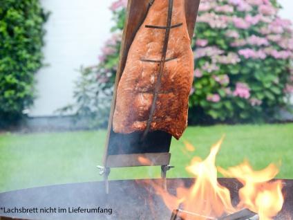 Große Gusseisen Feuerschale modern 75cm offene Feuerstelle im GartenFEUERSTELLE - Vorschau 5