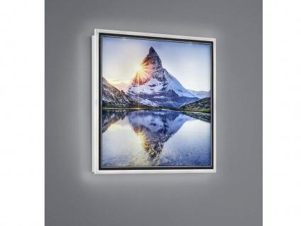 LED Wandbild beleuchtetes Bild Berg mit Licht Hintergrundbeleuchtung Wanddeko