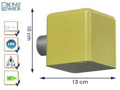 LED Außenwandleuchte AMALFI, olive-gelb, Wandleuchte Wandstrahler Wandspot