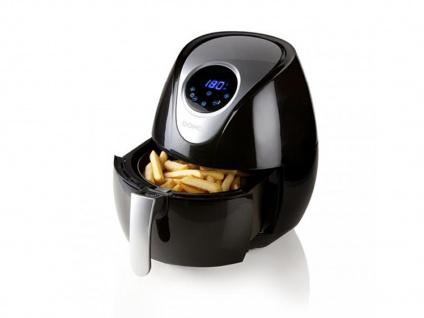 Frittieren ohne Fett mit der digitalen 3, 5ltr.- 1, 2 kg LOW FAT Heißluftfritteuse