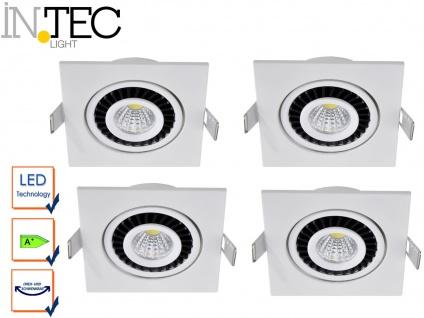 4er Set LED Einbaustrahler 3W Spot schwenkbar weiß Deckenstrahler Einbauleuchte