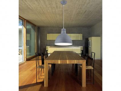 Retro LED Hängelampe dimmbar mit rundem Metall Lampenschirm Ø30cm in Beton /Grau