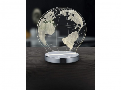 3D LED Tischlampe Weltkugel Dekoleuchte für Innen cooler Kinderglobus beleuchtet