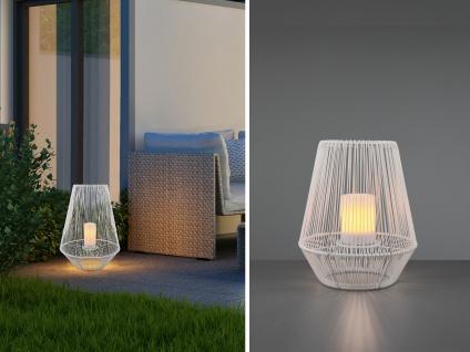 Outdoor Solar LED Tischleuchten 2er SET weiß mit Akku ohne Kabel Flammen Effekt