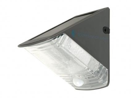 LED Solarleuchte für die Wand mit Bewegungsmelder, 100° max. 7 Meter