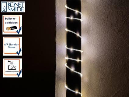 LED Mini Lichterschlauch 5 Meter Lichtsensor & 6/9h Timer Batteriebetrieb IP44