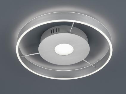 Große LED Deckenleuchte Silber Ringleuchte 50cm mit Fernbedienung - Nachtlicht