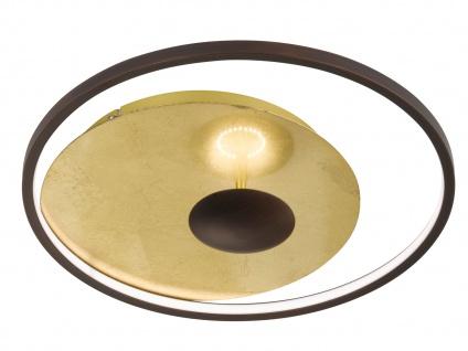 Runde LED Deckenleuchte 26 Watt Antik-Braun/Gold Ø 60cm - Design Deko Leuchten