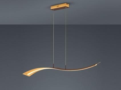 Geschwungene LED Pendelleuchte Design Wellenform Gold mit Switch Dimmer Funktion