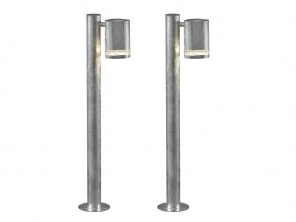 2er-Set Wegeleuchten MODENA galv. Stahl, GU10, Höhe 70 cm, IP44