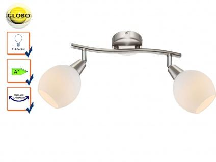 LED Deckenleuchte Deckenstrahler ELLIOTT, Glasschirme, Deckenlampe schwenkbar