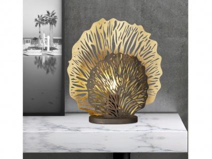 Kleine Tischleuchte goldfarben - Tischlampe für Beleuchtung von Flur & Wohnraum