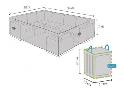 Schutzhülle für Gartenmöbel Lounge Set 300x200x75cm + Hülle für 6-8 Kissen