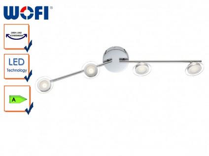 4-flammige LED-Deckenleuchte modern, schwenkbar, Wofi-Leuchten