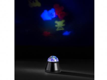 LED Tischleuchte / Nachtlicht Teddyprojektor 4W LED Multicolor mit Motor Ø 10cm