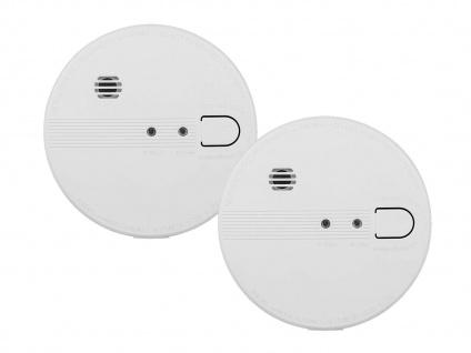 2er Set vernetzbare Rauchmelder 230V oder Batterie, Alarmmelder 85dB - Vorschau 2