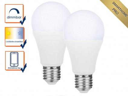 2er Set intelligente E27 Zusatz LED Birnen Smarthome PRO - dimmbar & Lichtfarbe