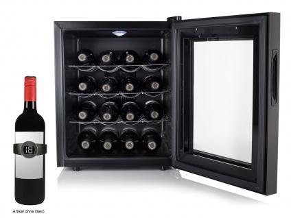 Mini Weinkühlschrank für 16 Fl. Weintemperierschrank Weinklimaschrank Winecooler