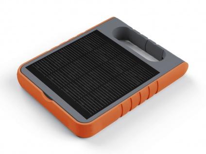 Universal LED Solarleuchte mit USB Ein- & Ausgang dimmbar IP44 H. 18cm Orange - Vorschau 3