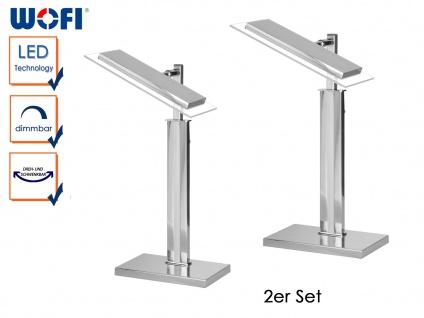 2er Set LED Tischleuchte AVRIL, H. 40cm, dimmbar, Schreibtischleuchte Tischlampe