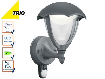Trio LED Außenlampe Laterne GRACHT mit Bewegungsmelder, Wandleuchte anthrazit