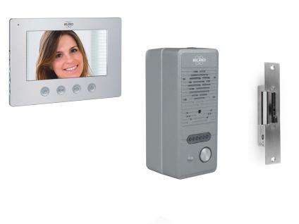 Videogegensprechanlage Freisprechanlage Haus mit Monitor, Lochkamera & Türöffner