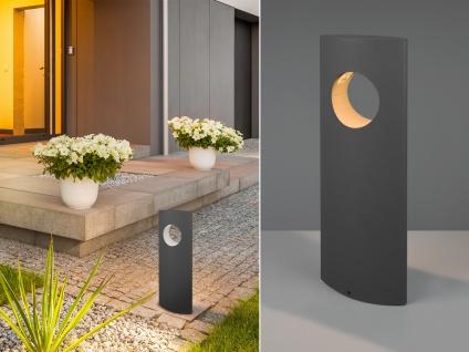 LED Wegeleuchten Set Sockelleuchte Anthrazit Outdoor Stehlampe Gartenlampe Strom