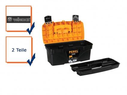 Werkzeugkiste Werkzeugkasten Werkzeugkoffer Kunststoff 432x250x238mm OM16