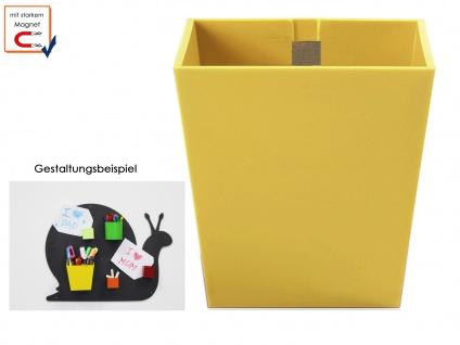 Kunststofftopf mit Magnet Ø 9 cm Gelb, Wandaufbewahrung Wanddeko KalaMitica
