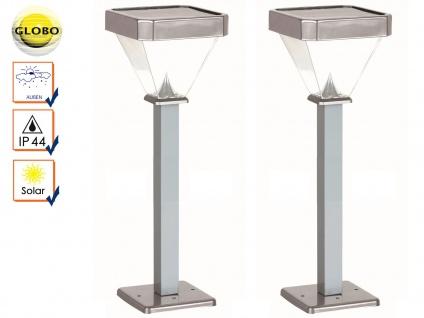 2er Set LED Solarleuchten Wegeleuchten 1m, Gartenlampen Solar Außenbeleuchtung
