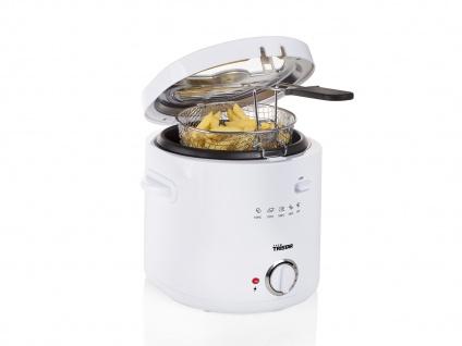 MINI Öl Fritteuse Single Fett Friteuse Schnitzel & Champignons frittieren 1, 5L
