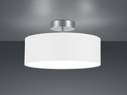 Runde LED Deckenleuchte weißer Textil Lampenschirm Ø30cm Stoffschirm Deckenlampe