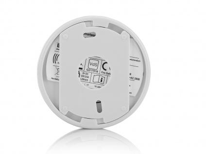 4er-Set Mini 10-Jahres Rauchwarnmelder + Magnet-Set mit VDS & DIN EN14604 - Vorschau 4