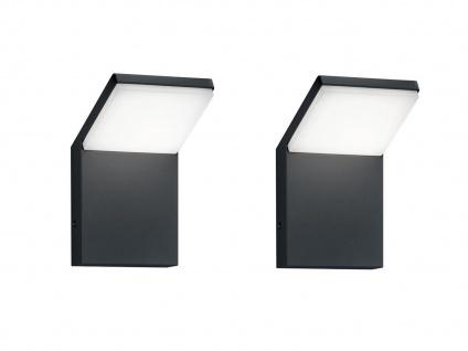 LED Außenwandlampen Anthrazit 2er Set Außenleuchten Hausbeleuchtung Außenbereich