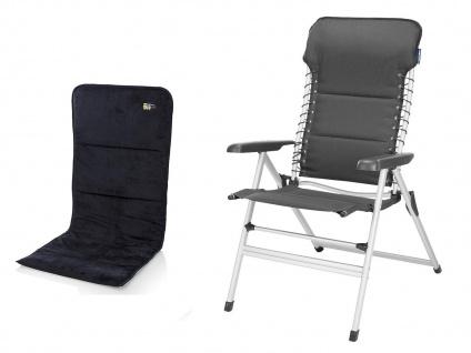 ALU Campingstuhl Hochlehner 7-fach verstellbar Klappsessel mit Sitzauflage - Vorschau 2