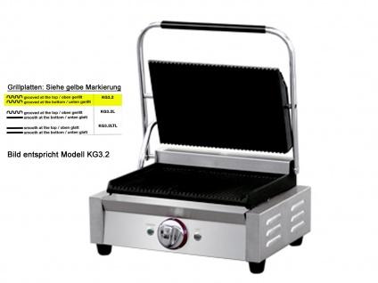 Profi Edelstahl Kontaktgrill Gastro Elektro Multigrill Steakgrill Paninimaker - Vorschau 3