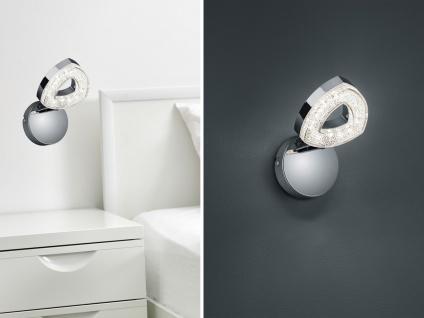 Kleiner LED Wandstrahler Spot 1 flammig Chrom 13x14xcm - Treppenhausbeleuchtung