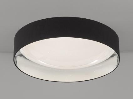 Dimmbare LED Sternenhimmel Deckenlampe Ø80cm, Lampenschirm Stoff schwarz silber - Vorschau 1