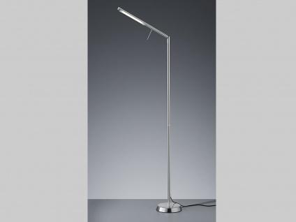 Ausgefallene stufenlos dimmbare LED Stehleuchte 162cm hoch in Nickel matt