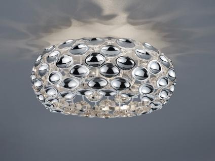 LED Deckenlampe dimmbar mit Spiegelapplikationen aus Metall in glänzendem Chrom
