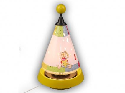 Nachttischleuchte Carrousel projiziert Mond und Sterne mit 3er Set Leuchtmittel - Vorschau 3