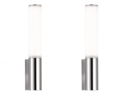 2 LED Wandlampen mit Steckdose für Badspiegel seitlich Badlampen Spiegelleuchten