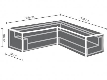 Abdeckung 300x300cm für Garten Lounge Set L-förmig + Schutzhülle für 6-8 Kissen - Vorschau 3